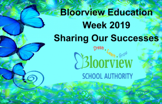 Butterfly title page for Bloorview School Authority Education Week Sharing our successes