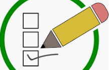 clipart image of pencil checking off boxes